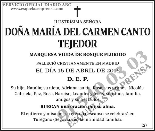 María del Carmen Canto Tejedor